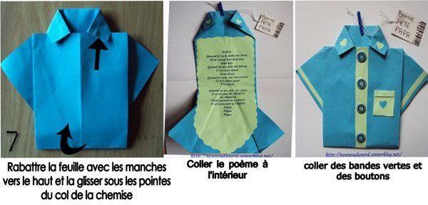 Chemise en pliage papier pour la f te des p res - Faire un beau paquet cadeau ...