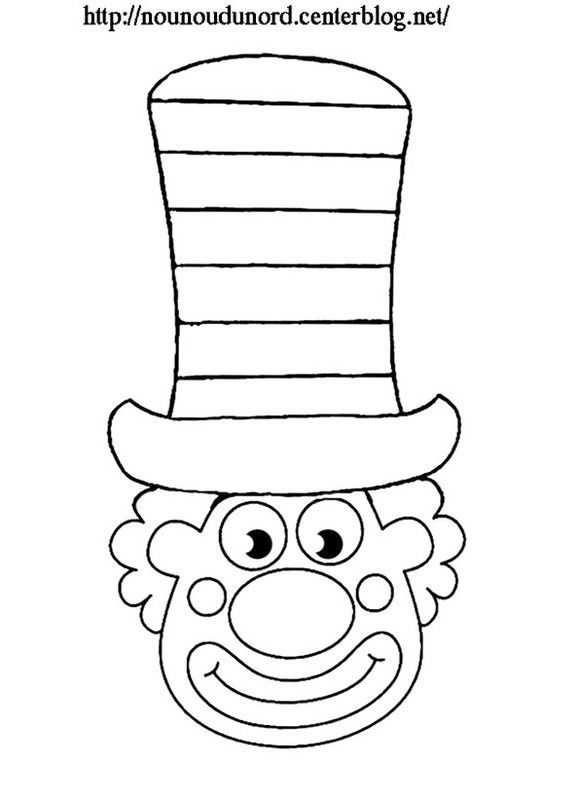 coloriage clown grand chapeau