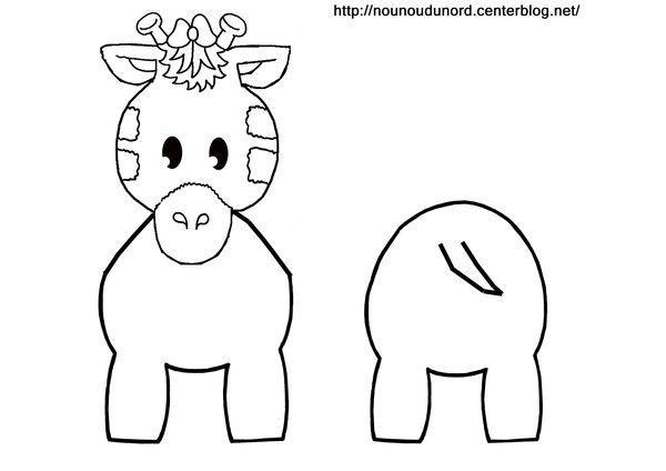 Coloriage girafe pour rouleau de papier wc - Girafe a imprimer ...