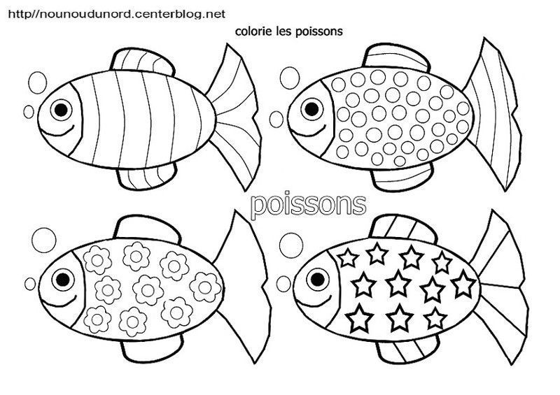 Coloriages poissons - Poisson avril coloriage ...