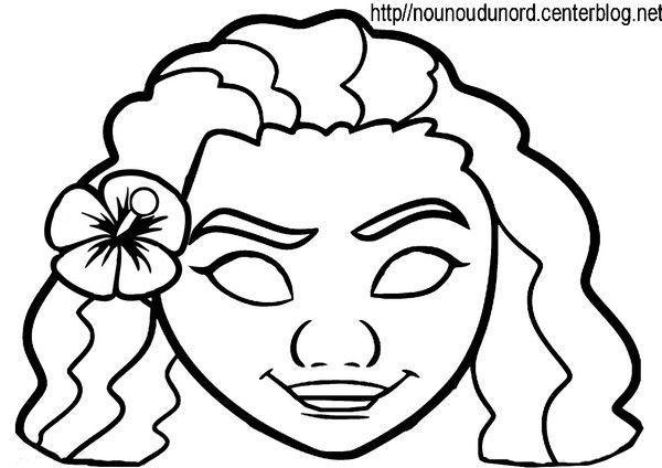 Coloriage Masque Darlequin.Activite Masque A Imprimer