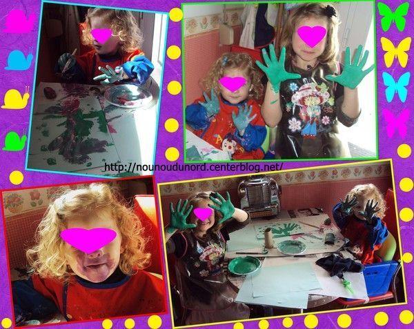 Séance de peinture libre pour Axelle et Soline