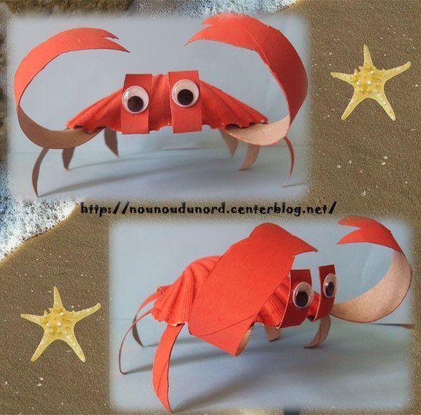 Crabe de lison r alis avec une coquille st jacques 2011 - Coquille saint jacques dessin ...