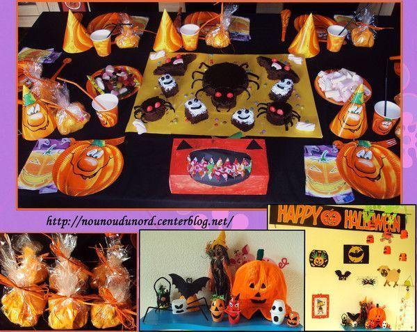 la table pour notre go ter d 39 halloween 2011 centerblog. Black Bedroom Furniture Sets. Home Design Ideas