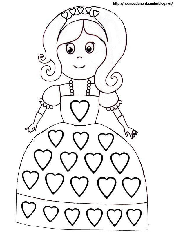 Coloriage princesse les beaux dessins de dessin anim coloriage princesse facile - Coloriage princesse facile ...