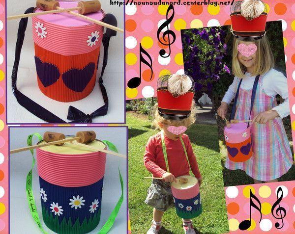 les tambours colorés d'Axelle et de Soline