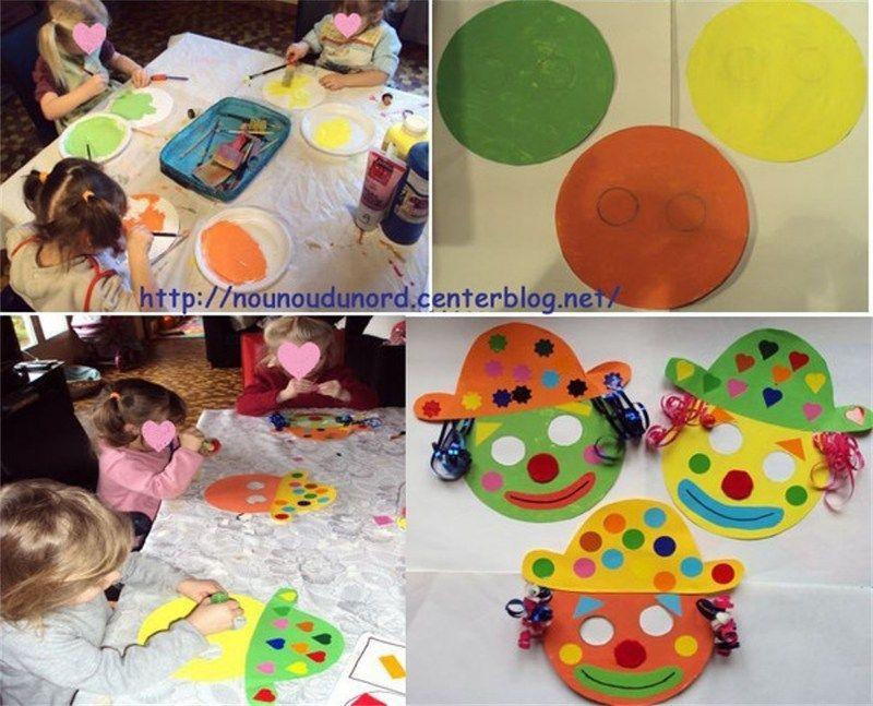 Masques clowns pour le carnaval janvier 2010 - Tete de clown a imprimer ...