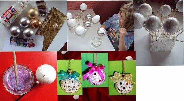 Des boules de no l r alis es par axelle - Achat materiel bricolage en ligne ...