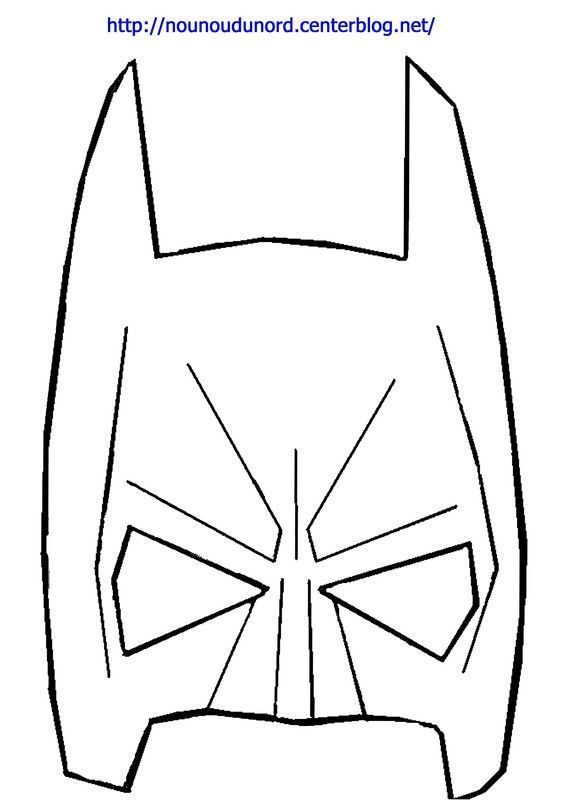 Masque batman imprimer - Masque de superman ...