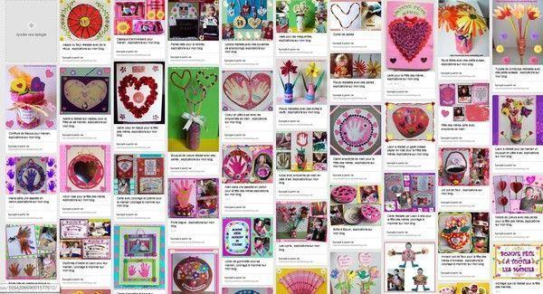 créations  fête des mères et grands-mères sur une page