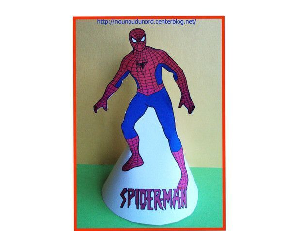 coloriage en forme de c ne spiderman. Black Bedroom Furniture Sets. Home Design Ideas