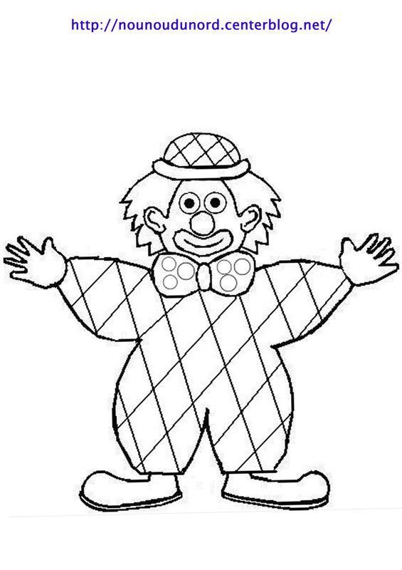 Coloriage clown page 2 - Coloriage arlequin maternelle ...