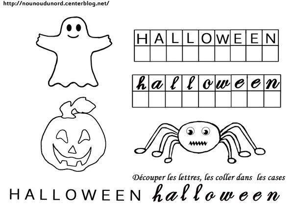 exercice et coloriage halloween