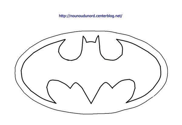 Coloriage Logo Batman Dessiné Par Nounoudunord