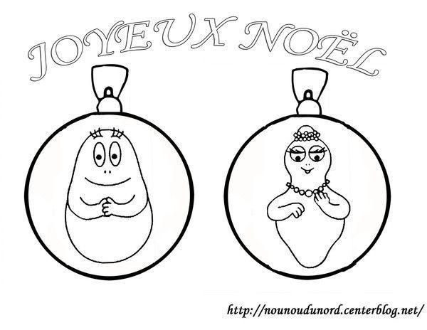 Coloriage boules de no l barbapapa - Dessin boules de noel ...