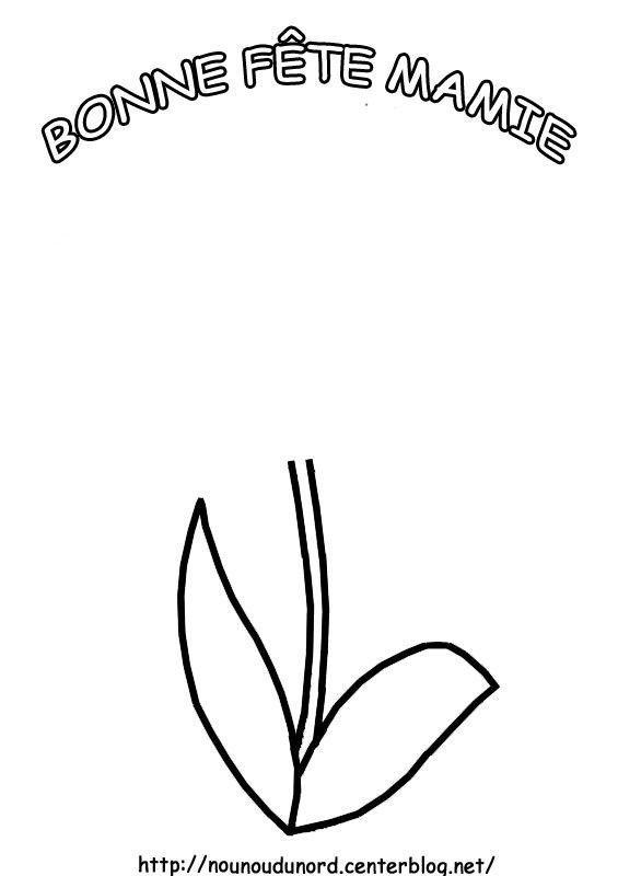 Tige de fleur pour mettre empreinte de main fête des mamies