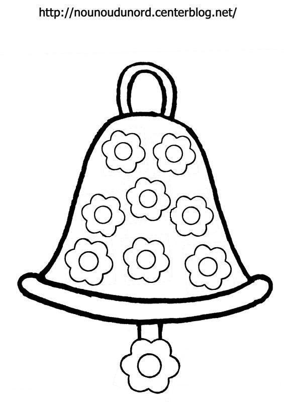 Coloriage cloche de p ques fleurs par nounoudunord - Dessin cloche ...