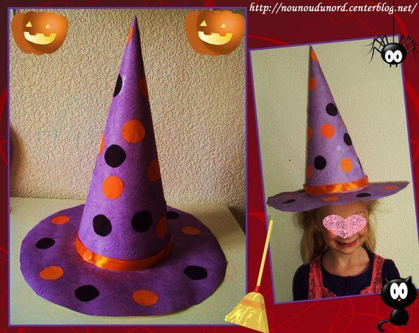Chapeau de sorci re de lison pour la f te d 39 halloween 2011 - Comment faire des decoration d halloween ...