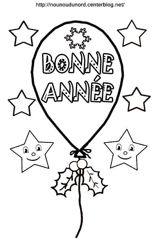 Coloriage ballon BONNE ANNEE
