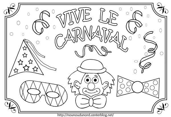 Coloriage vive le carnaval illustr par nounoudunord - Nounou du nord coloriage ...