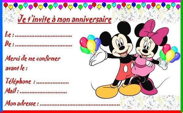 etiquettes invitations mickey et minnie pour anniversaire invitation anniversaire minnie a. Black Bedroom Furniture Sets. Home Design Ideas