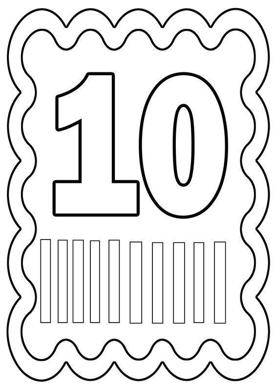 Coloriage chiffre 10 colorier ou gommettes dessin de - Chiffre a imprimer ...