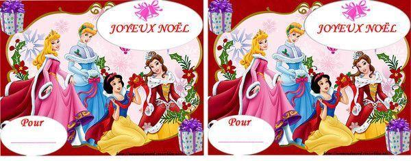 Etiquettes imprimer pour vos cadeaux de no l - Joyeux noel disney ...