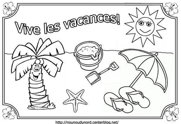 Coloriage Vive Les Vacances