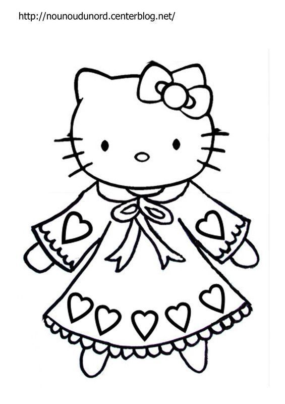 Coloriage hello kitty a imprimer - Coloriage 4 ans ...