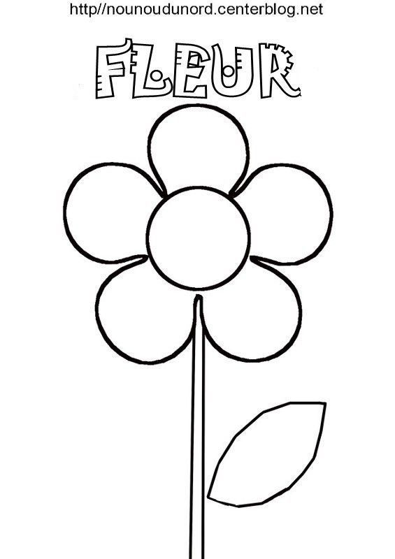 Fleur Coloriage Pour Gommettes En Couleur