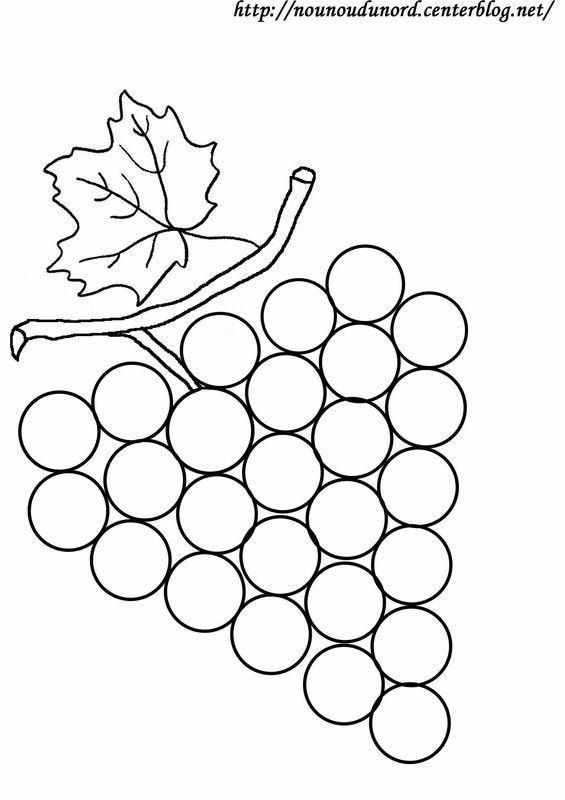 Coloriage grappe de raisin dessin par nounoudunord - Image a peindre gratuit ...