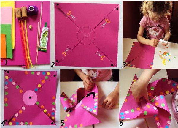 Moulin vent d 39 axelle - Comment fabriquer un moulin a vent en papier ...