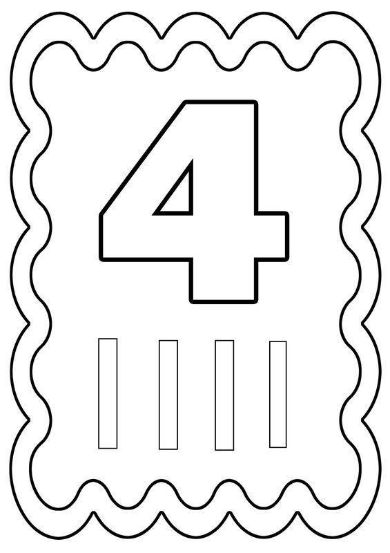 Coloriage chiffre 4 dessiné par nounoudunord.