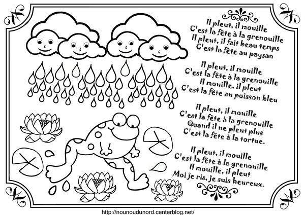 Illustration il pleut il mouille centerblog for Par la fenetre ouverte comptine