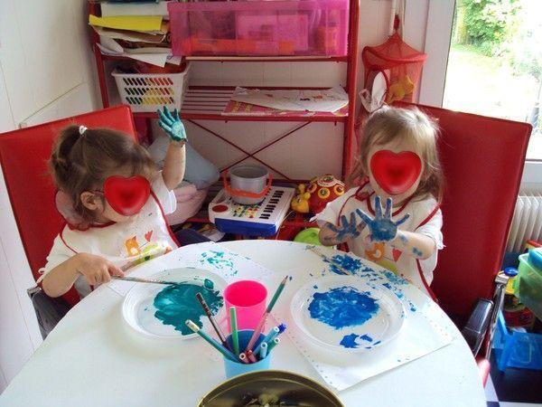 la peinture avec les jumelles