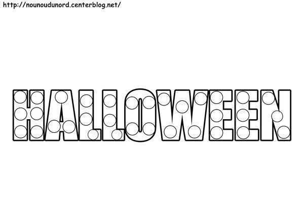 halloween à gommettes dessiné par nounoudunord