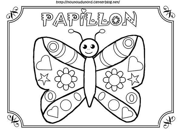 Coloriage papillon - Coloriage d un papillon ...