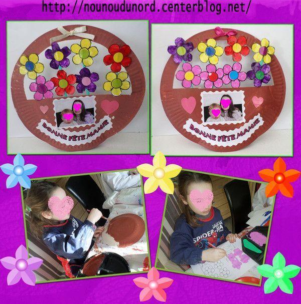 Corbeilles de fleurs réalisées par Annalisa pour ses mamies