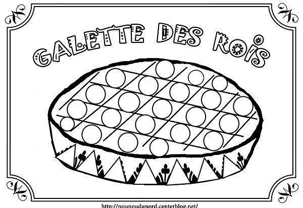 Coloriage galette des rois epiphanie - Coloriage de galette ...