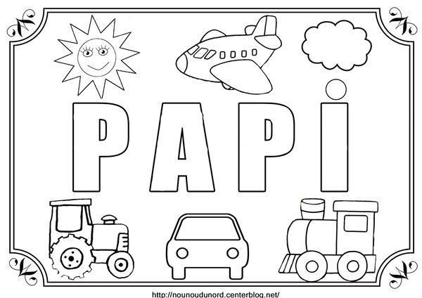 Coloriage papi - Coloriage anniversaire papy ...