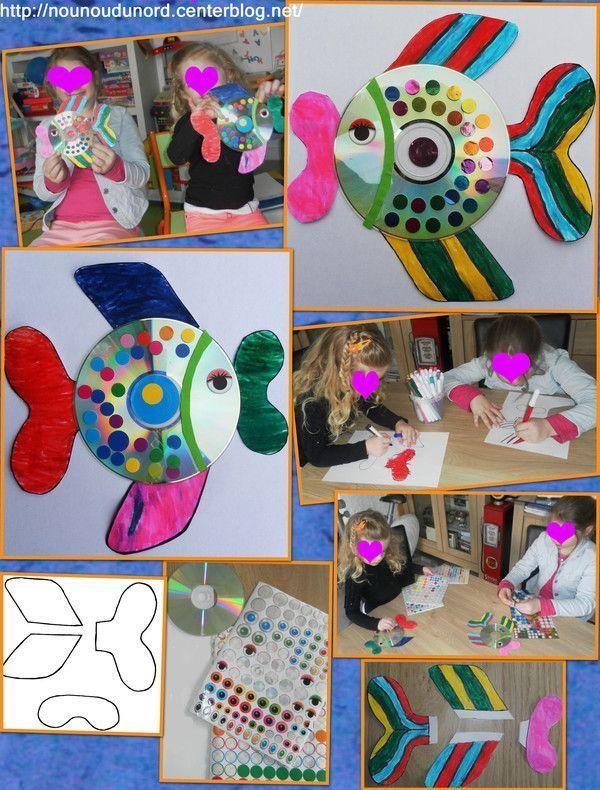Les poissons CD réalisés par Axelle et Soline