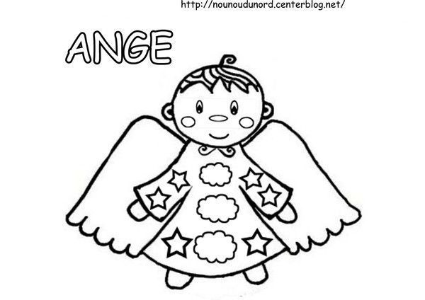 Coloriage ange de no l gar on - Coloriage ange ...