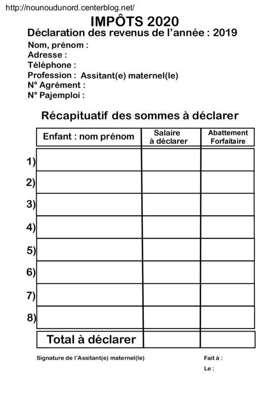Impots 2020 Calendrier.Impots 2020 Tableaux De Declaration Des Revenus 2019