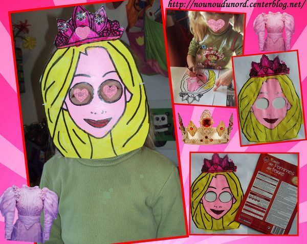 Masque Raiponce pour la carnaval réalisé par Lison