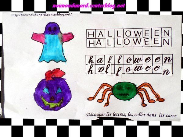 Petit exercice d'Halloween réalisé par Gaspard 4ans