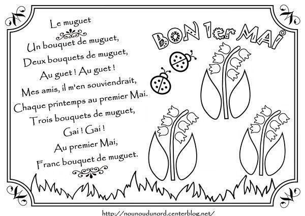 Comptine le muguet illustrée par nounoudunord