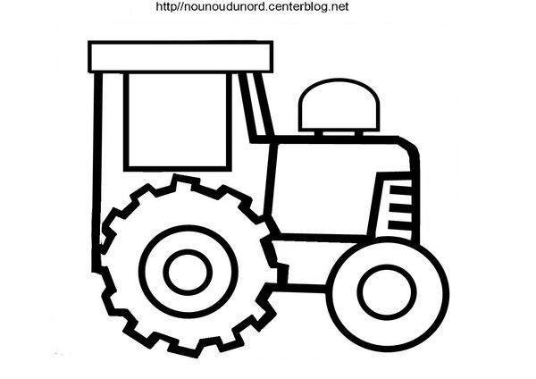 Coloriage vehicule transport - Tracteur a colorier ...
