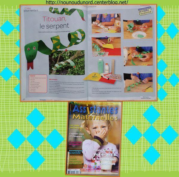 Activité pour le magazine assistantes maternelle n°117