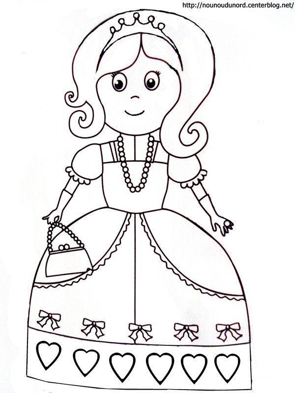 Coloriage princesse a imprimer - Princesse dessin facile ...