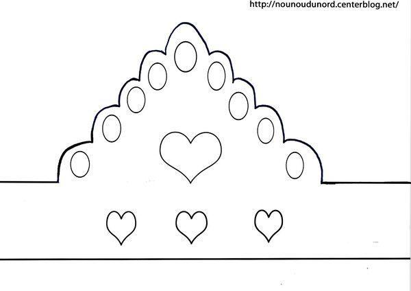 Couronne princesse imprimer - Fabriquer une couronne en papier ...